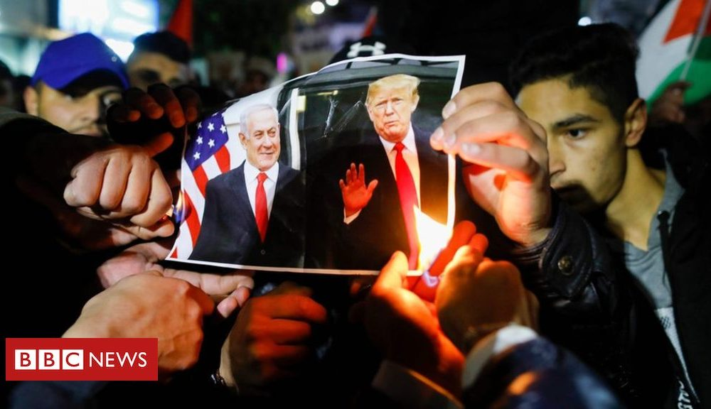 Donald Trump Trump's Middle East peace plan: Smiles and sorrow on the ground